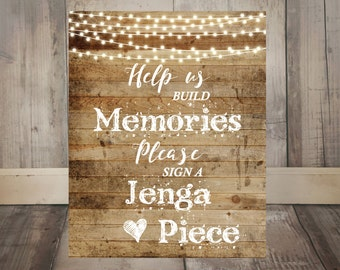 Wedding Guest Book Sign, Rustic Wedding Guest Book Alternative, Jenga Guest Book Sign, Jenga Wedding Sign, Jenga Sign, Rustic Sign, WS013