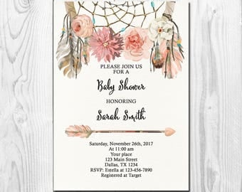Rustic Baby Shower Invitation Mason Jar Lace String Lights