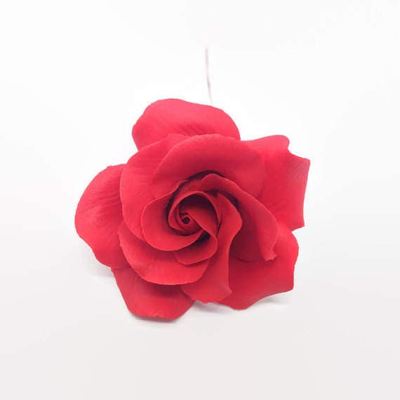 Small Red Rose Sugar Flower READY TO SHIP