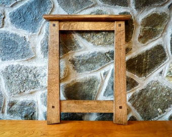 Mission Style Oak Picture Frame 11x14 Opening