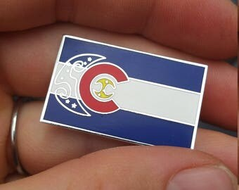 String Cheese Incident Colorado Flag Hat Pin