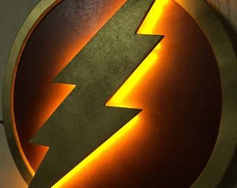 Justice League The Flash LED Illuminated Superhero Logo Night Light Wall Art for mancave or boys bedroom