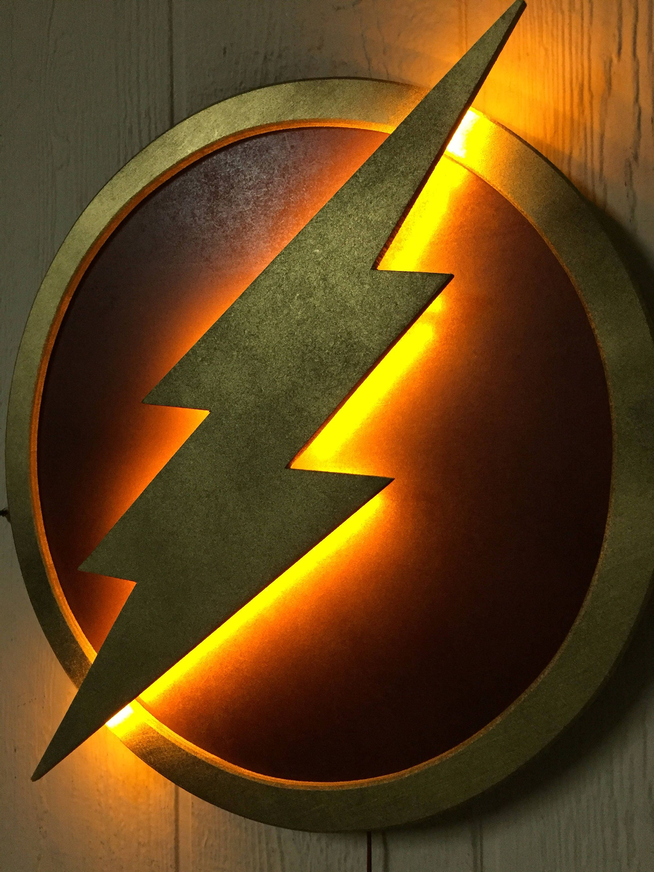 Plug In Wall Lamps For Bedroom Justice League The Flash Led Illuminated Superhero Logo Night