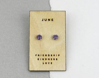 Birthstone Characteristics Sterling Silver Earrings - Birthstone Earrings - Birthstone Jewelry - Birthstone Gifts [WCJ-BSSE]