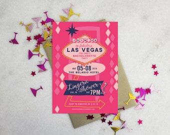 PRINTABLE Bachelorette Party Invitation | Vegas Baby