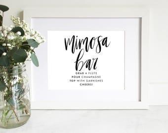 PRINTABLE Sign | Mimosa Bar