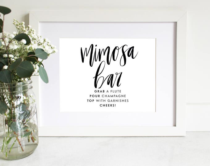 PRINTABLE Sign | Mimosa Bar