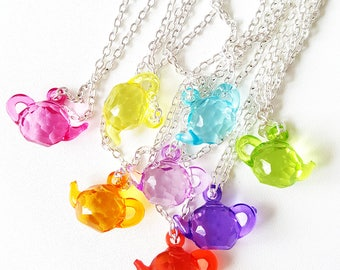 Teapot Necklaces | Silver Plated Chain Necklace | Kitsch Jewellery | Accessories