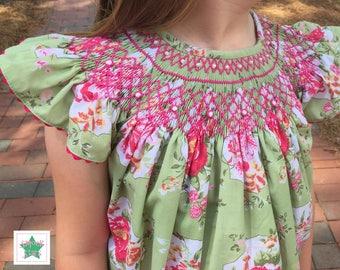 Smocked Easter Dress, Smocked Floral Dress, Smocked Dresses, Girls Dresses