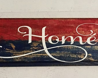patriotic decorations farmhouse wall decor rustic home decor farmhouse home decor july - Custom Signs For Home Decor