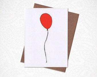 Red Ballon Happy Birthday Card!