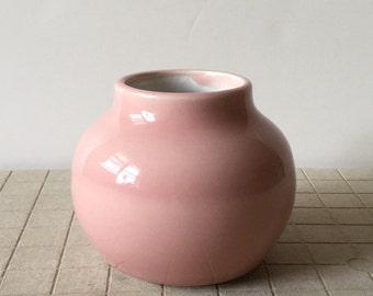 Handmade Pink and White Porcelain Vase