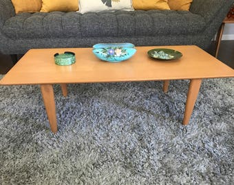 Heywood Wakefield Vintage Coffee Table in Champagne Finish
