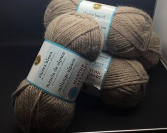 Martha Stewart  Alpaca Blend Lion Brand Yarn  549 Mourning Dove Lot # 45270 Beige Brown