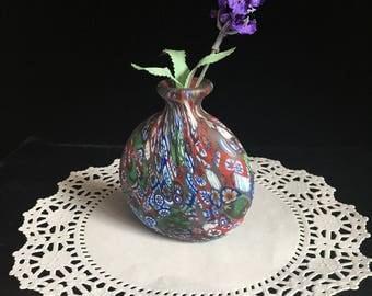 Milefiori Art Glass Vase