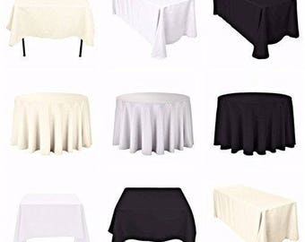 Round Table Cloth Cover Cotton Wedding Birthday Party Dining Decoration 108  Inch