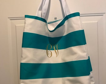 Made to order: Striped Beach bag