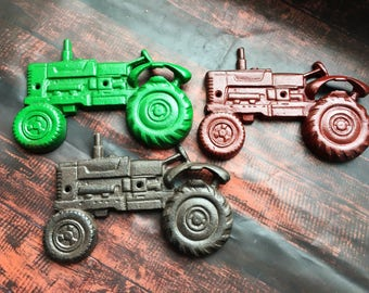 Tractor gifts, Cast Iron Bottle Opener - Groomsmen Gift - Wall Mounted Beer Opener - Rustic Kitchen Wall Decor - Outdoor Patio Bar Decor