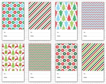 """Christmas Tags Printable: """"Christmas Gift Tags"""" Printable Christmas Tags, Holiday Gift Tags, Christmas Labels, Christmas Decoration"""