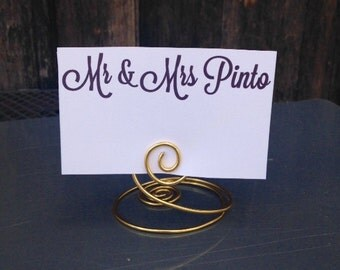 Place Card Holder, Table Number Holder, Small Spiral Wire Wedding Place Card Holders, Rustic Wedding, Wedding, Table Number Stand