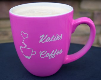 Personalized Ceramic Bistro Mug for the coffee lover