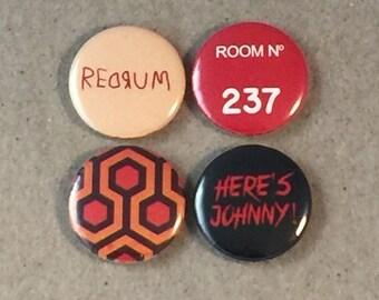 The Shining REDRUM ROOM NO 237 Fan Art 4 - 1 Inch Button Set