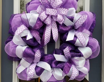 Purple and lavender spring summer wreath