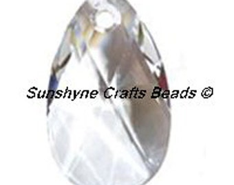 Swarovski Crystal Beads 6106 CRYSTAL Clear 22MM Pear Shaped Pendant 1 Pc