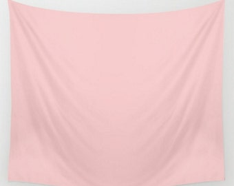 Wall Tapestry Blush Rose Quartz Light Pink Dorm Room Home Nursery Wall Decor