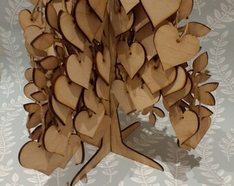 3d wedding guest book tree, wedding guest book alternative, wooden guest book, 3d tree, wedding tree, keepsake tree, DIY guest book kit