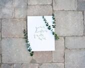 "Hand lettered / Calligraphy Print / Custom Print / Custom Design / 8"" x 10"" / Handwritten Print"