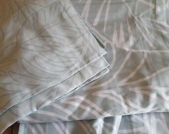 100 % Organic Bamboo Reversible Queen Duvet Quilt Doona Cover Set and Queen Bed Sheet Set Handmade 7 Piece