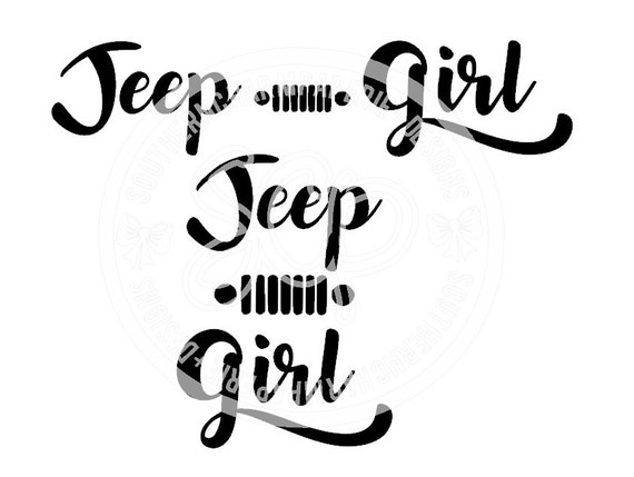 jeep girl 2 versions jeep wrangler offroad 4x4 svg cut file