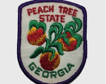 Vintage Georgia Patch - Peach Tree State