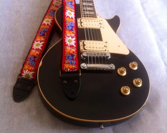 Handmade Guitar Strap, limited edition, vintage roll