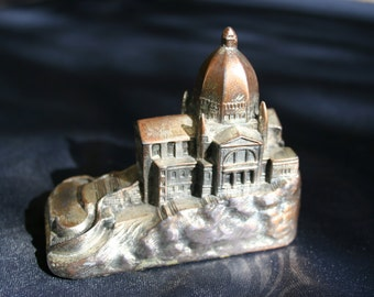 Miniature Building od St Joseph's Oratory in Montreal Canada 1960's Ref Plate 8 Scaricity Rate IV