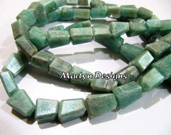 Best Quality 10-12mm Size Natural Amazonite Tumbled Beads , Laser Cut Nugget Shape Amazonite Beads , Length 13 inch long , Jewelry Beads