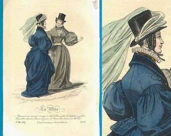 Female equestrian in riding habit vintage design