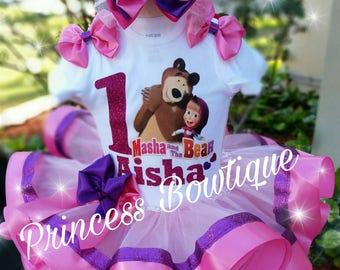 Masha and the bear tutu, Masha and the bear birthday tutu, Masha and the bear, tutus