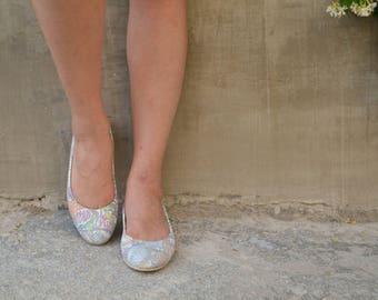 Floral Leather Ballet Flats ballerinas ballerina's ballerina pumps ballerina flats ballerina shoes ballet slippers ballet shoes