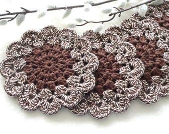 Crochet Coasters Coaster Placemat Table linens Kitchen Decor Gift Crochet Doilies Tablecloth Crochet Doily Round Cotton Table Home Decor