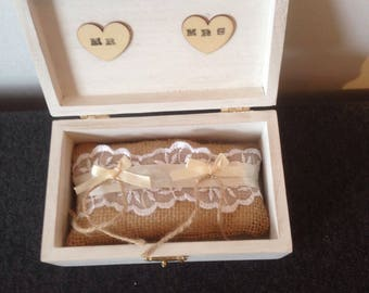 Ring bearer box and pillow.