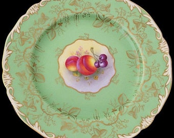 Royal Worcester Fruit Painted Plate By Harry Ayrton - 1930's