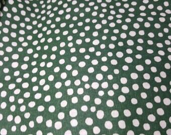 Dot on Green, Polka Dot Cotton Fabric  Logantex Studio by Jessica Odom, Fabric by the Yard