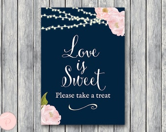 Love is sweet, take a treat sign, Thank you sign, Wedding Sign, Decoration, Engagement party, Wedding Shower TH65