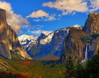 Yosemite National Park Valley View Fine Art Giclee Print, Modern Wall Art Feature Fine Art Nature Photography From Yosemite National Park