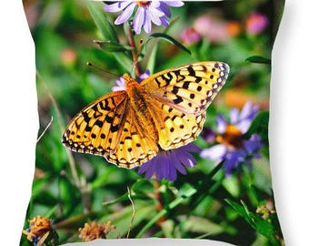 Teton Butterfly Throw Pillow in Multiple Sizes, Modern Home Decor Featuring Fine Art Nature Photography From Grand Teton National Park
