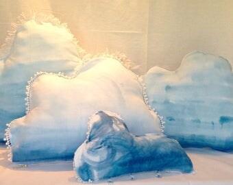 Hand Dyed Indigo Cloud Pillows