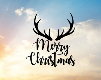 Merry Christmas Svg, Reindeer SVG, Christmas SVG, Reindeer Antlers SVG