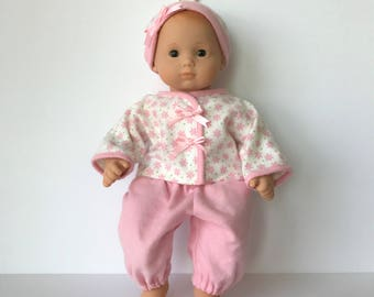 Bitty Baby Wrap Shirt, Pants, Knot Hat and matching diaper